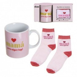 Set Regalo Taza con Calcetines Love Mama