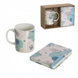 Set Regalo Taza con Libreta Travel