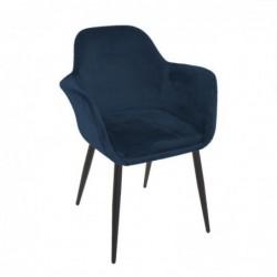 Silla Butaca Terciopelo Azul 84 cm