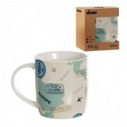 Taza Mug Ceramica 350 ml Travel