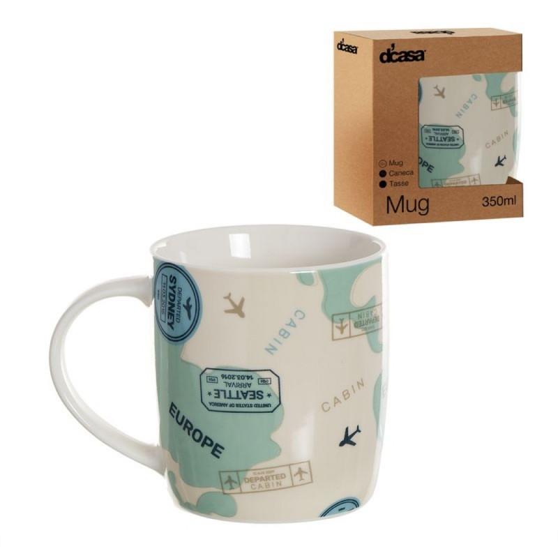 Taza Mug Ceramica 350 ml Travel
