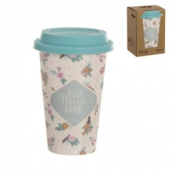 Taza Mug Tapa Silicona 400 ml Best Mom