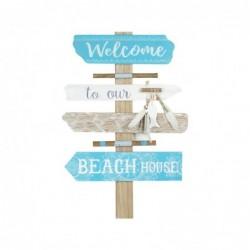 Adorno Pared Decorativo Beach Madera 47 cm