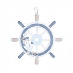 Adorno Pared Decorativo timon Azul 40 cm