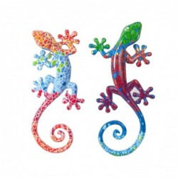 Adorno Pared Decorativo x2 Lagarto 14 cm