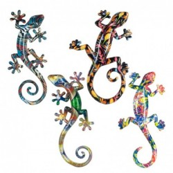 Adorno Pared Decorativo x4 Lagarto 26 cm