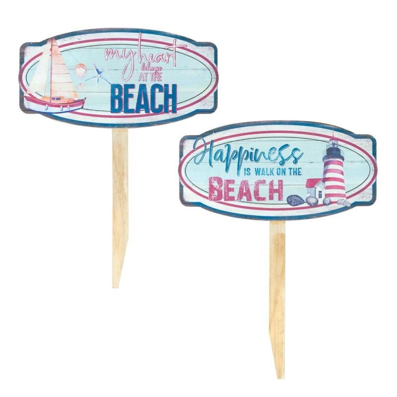 Adorno Pared x2 Beach  30x39 cm