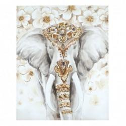 Cuadro con Bastidor Madera Elefante 100x80 cm