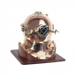 Figura Decorativa Bronce Casco Buceo Retro Luxury 49 cm