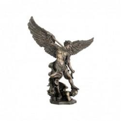Figura Decorativa Clasica San Miguel sobre Demonio Resina Grande 110 cm