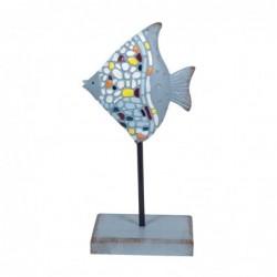 Figura Decorativa Pez Resina 22 cm
