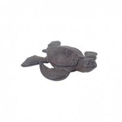 Figura Decorativa Tortuga con Caja Hierro 12 cm