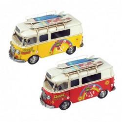 Figura Metal x2 Autobus Retro 27 cm