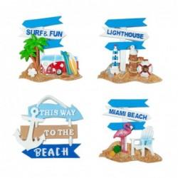 Iman de Nevera x4 Modelos Beach 7 cm
