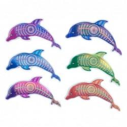 Iman de Nevera x6 Delfines 9 cm