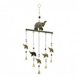 Movil Decorativo Elefantes Metalico 60 cm