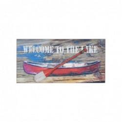 Placa Pared Decorativa Barco 40x20 cm