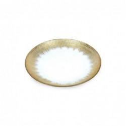 Plato Cristal dorado Redondo 20 cm