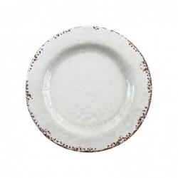 Plato Retro Blanco 27 cm