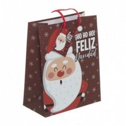Bolsa Regalo Papel L Papa Noel