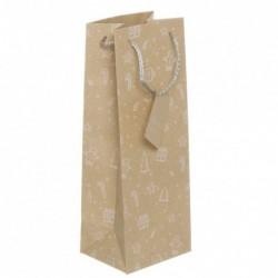 Bolsa Regalo Papel para Botella Craft Navidad