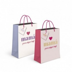 Bolsa Regalo Papel S Love Mama x2 Colores