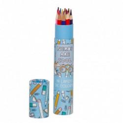 Caja con Lapices de Colores Pencils Azul