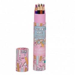 Caja con Lapices de Colores Pencils Rosa