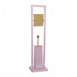 Escobillero WC con Portarollos Bambu Rosa