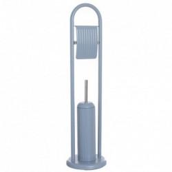 Escobillero WC con Portarollos Manhattan Azul