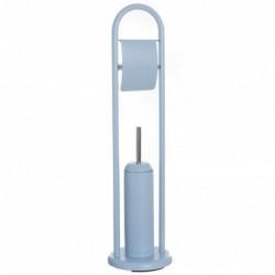 Escobillero WC con Portarollos Ostrich Azul