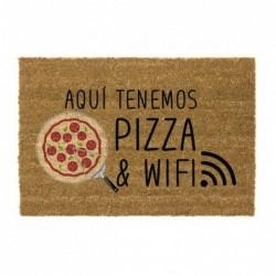 Felpudo Antideslizante 40x70 cm Pizza & Wifi