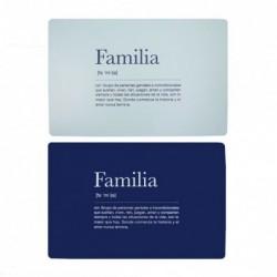 Individual 28x43 cm Familia x2 Colores