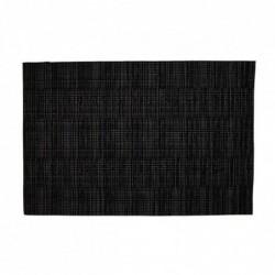 Individual 30x45 cm Efecto Metalico Negro