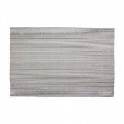 Individual 30x45 cm Efecto Metalico Plata