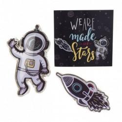 Juego 2 Pins Astronauta