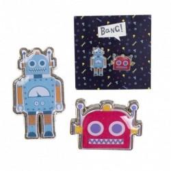Juego 2 Pins Robots