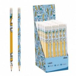 Juego de 8 Lapices Pencils Azul