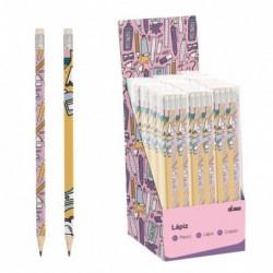 Juego de 8 Lapices Pencils Lila