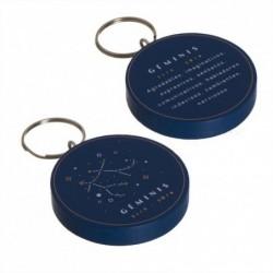 Llavero Madera Geminis Cualidades Personalidad Horoscopo 5 cm
