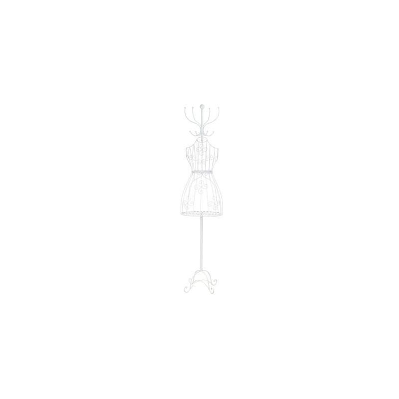 Perchero Maniqui Metalico Blanco 178 cm