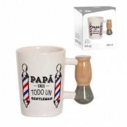 Taza Mug Ceramica Regalo Dia del Padre Brocha Afeitar 13 cm