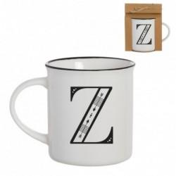 Taza Mug Porcelana Blanca Letra Z Inicial Nombre Apellido Cafe Te 10 cm