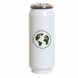 Termo Portatil Acero Inoxidable Forma Lata Botella Isotermica Camping Trabajo Cafe 390ML