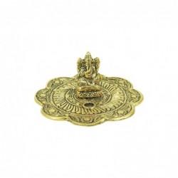 Apoyador de Incienso Buda Dorado Porta Incienso Hindu Resina 12 cm