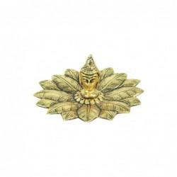 Apoyador Incienso Buda Dorado Flor de Loto Porta Incienso Hindu 12 cm