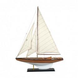 Figura Decorativa Barco Velero Madera Adorno Maqueta Miniatura Vela 70 cm