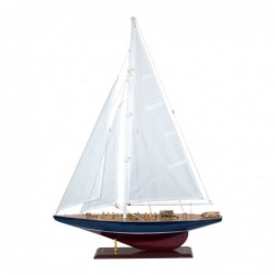 Figura Decorativa Barco Velero Madera Adorno Maqueta Miniatura Vela 83 cm