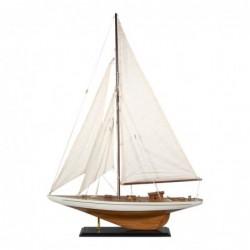 Figura Decorativa Barco Velero Madera Adorno Maqueta Miniatura Vela 85 cm