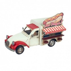 Figura Decorativa Coche Hot Dog Retro Perrito Caliente Food Truck Adorno Decorativo 27 cm